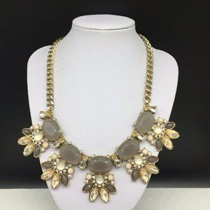 THE LIMITED Tan Clear Beige Rhinestone Necklace